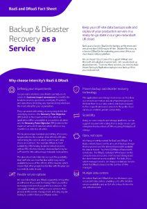 Intercity Technology BaaS and DRaaS Factsheet 212x300x96