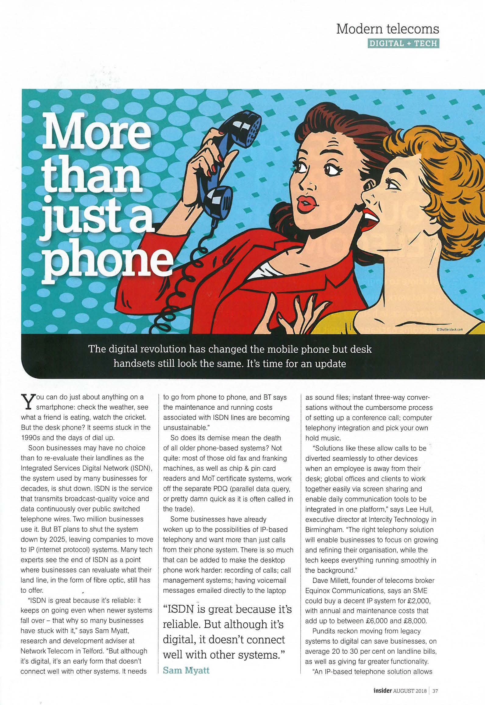 Midlands Business Insider - Telephony tech feature - Page 1